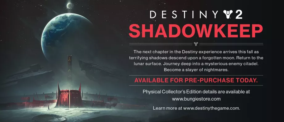 Destiny 2 Shadowkeep promo