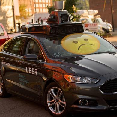 Sad Self Driving Uber