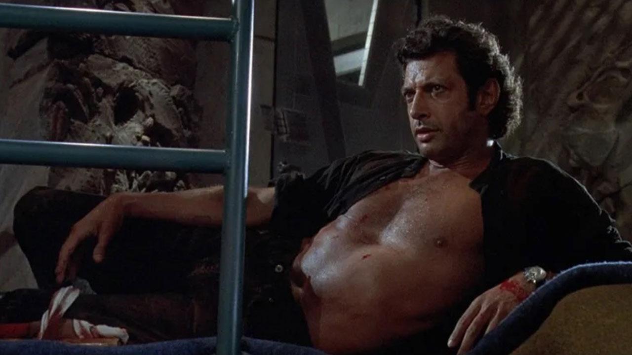 Shirtless Jeff Goldblum