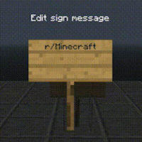 Minecraft Reddit Plugin Sign