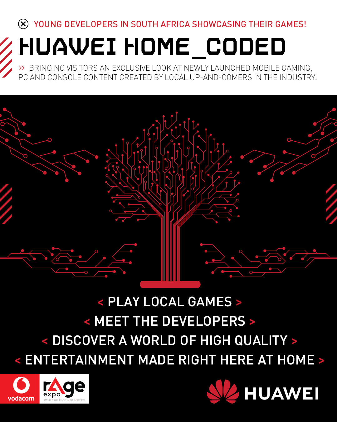 Vodacom rAge 2019 - Huawei home_coded