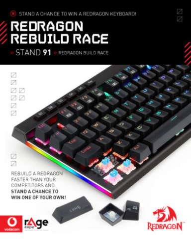 Vodacom rAge 2019 - Redragon Rebuild Race