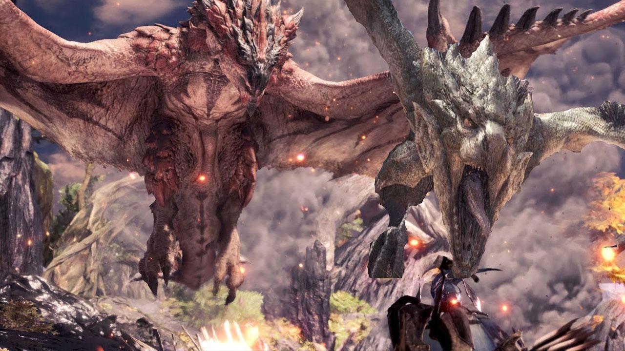 Monster Hunter Rathian and Rathalos
