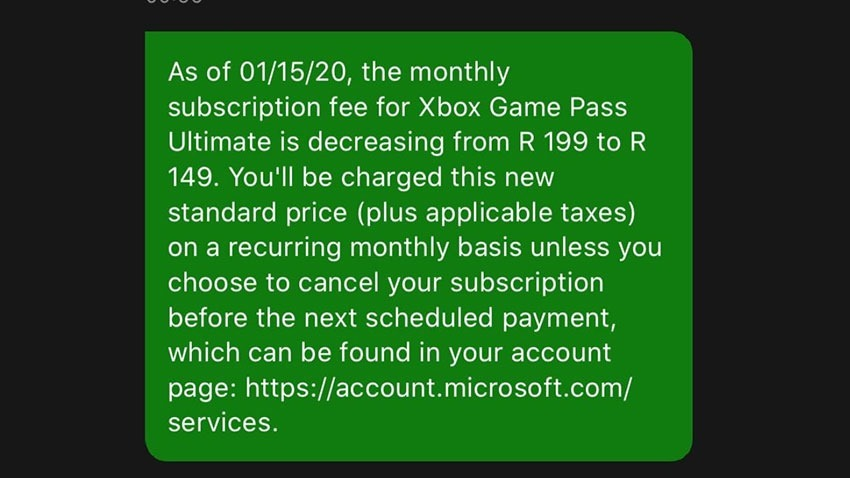 Xbox Live Gold Subscription Price Drop SA